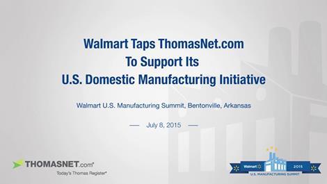 Wal-Mart-ThomasNet-Partnership